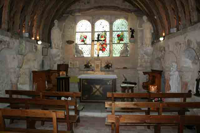 Chapelle: oratoire supérieur restauré.