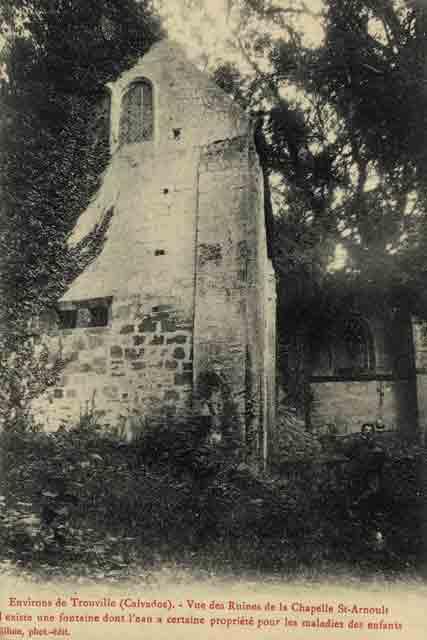chapelle extérieur, chevet oriental (CPA fin 19ème siècle)