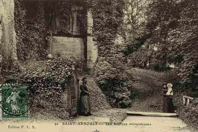 Sources St Clair et St Arnoul (CPA fin 19ème)
