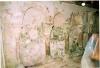 Peintures murales de la chapelle: mur nord avant entretien en 2005 (L. Blondaux).